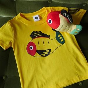 【送料無料】キッズ黄ぶなTシャツと黄ぶなぬいぐるみセット【疫病退散シリーズ】