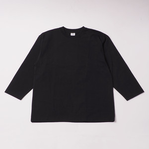 Smooth Heavy Embroidery Cropped Sleeve designed by Joji Nakamura / BLACK