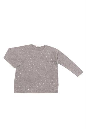 NARAN CASHMERE / カシミヤドット柄編みセーター