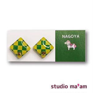 ■NAGOYA-10  ピアス。しかく。〜イヤリング変更可〜
