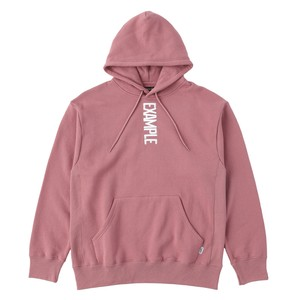 EXAMPLE VERTICAL LOGO EMBROIDERY HOODIE / PINK