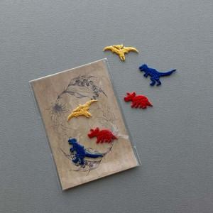 Nene mercerie 恐竜3枚セット