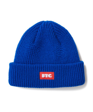 FTC / BOX LOGO BEANIE -ROYAL-