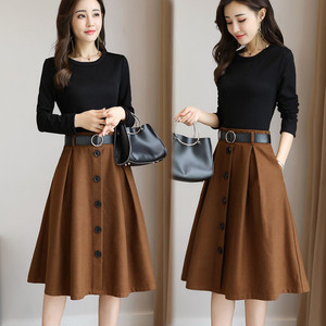セットアップ❤秋色のフレアのスカートがオシャレ♪セットアップ hdfks960556