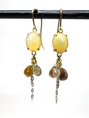 Opal & Fancy color Diamind  ピアス / IMS-E02