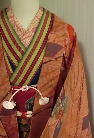 昭和レトロ 銘仙可愛い長羽織