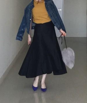 バックロングスカート ネイビー