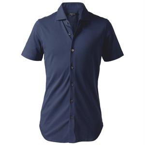 DJS-004 decollouomo メンズドレスシャツ半袖 NAVY - ネイビー