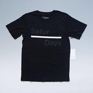 【メール便対応】SATURDAYS SURF NYC サタデーズ サーフ ニューヨーク Broken Ber Printed Tシャツ ブラック