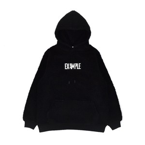 BOA SQUARE EMBROIDERY LOGO HOODIE / BLACK