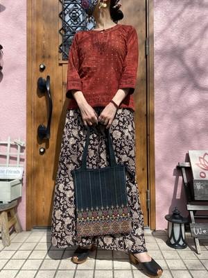 Jat刺繍トートバッグ