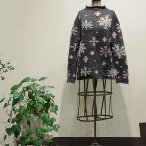 Snow pattern Roll neck Sweater / 雪柄 ロールネック セーター
