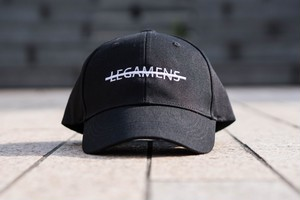 simple logo cap / black