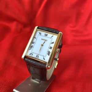 <Men's> GUCCI 18k(!!) Gold Watch -Rare!-