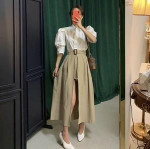 トレンチスカート風♡ パンツ ショートパンツ レイヤード スカート