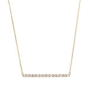 K10YGダイヤモンドネックレス 020201009193