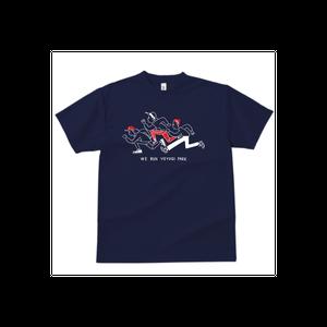 【WE RUN YOYOGI PARK Tシャツ(ドライ生地)】ネイビー × ホワイト