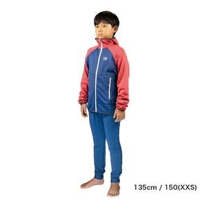 Kids / UN2100 Light weight fleece hoody / Navy : Red