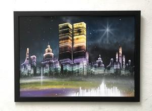 『夜の街並み』幻想の世界。
