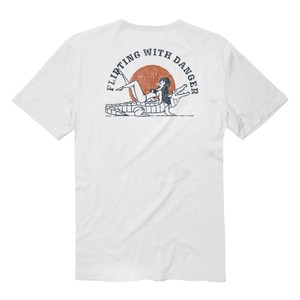 VISSLA ヴィスラ TEE FLIRTING WITH DANGER WHT M