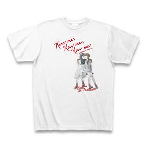 「Kiss me, Kiss me, Kiss me」Tシャツ(白)KDNT015