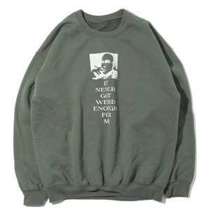 "user65336755 ""This is HUNTER S. THOMPSON INGWEFM"" CREWNECK SWEAT SH(OLIVE)"