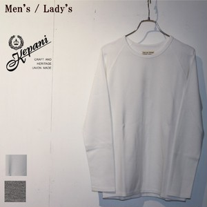Kepani ロングスリーブカットソー Long Sleeve T KP9902MS (WHITE) 【Unisex】