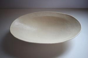 山田晃一郎|楕円深皿 アイボリー