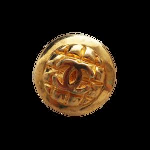 【VINTAGE CHANEL BUTTON】キルティング風 ココマーク ボタン 20mm C-20057