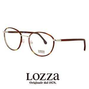 lozza メガネ vl2246l 0579 眼鏡 ロッツァ ボストン ラウンド メタル コンビネーション フレーム ウェリントン バネ蝶番 丸眼鏡