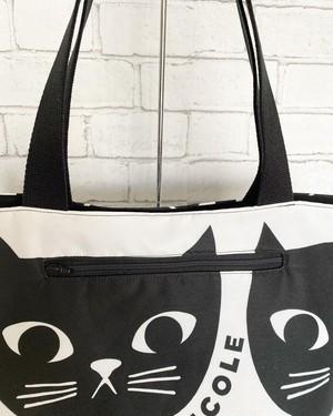 黒猫の大きなトートバッグ
