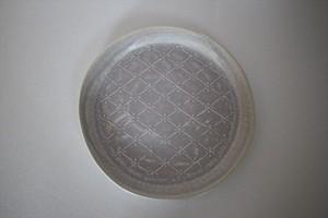 豊田雅代|リムプレート6寸 水色