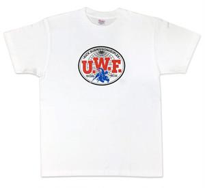 U.W.F.伝説胸マーク大Tシャツ 白