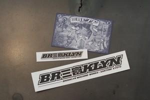 三富センター × BROOKLYN MACHINE WORKS オリジナルステッカーセット
