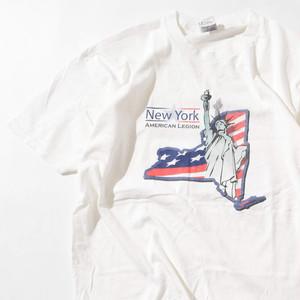 【XLサイズ】New York American Legion ニューヨークアメリカンレギオン TEE 半袖Tシャツ WHT ホワイト XL 400601191033