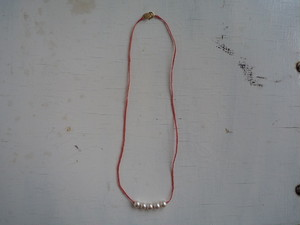 5粒Perl necklace 暖色系