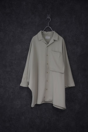 Nora Lily Dolman Half Sleeve Over size Shirt -MNT-
