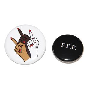 F.F.F. オリジナル缶バッチ 2個セット A type