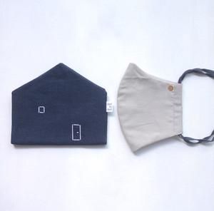 mask-house (マスク+マスクケース セット)*大人サイズ   ネイビー