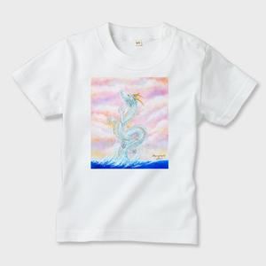 白キッズシャツ 龍宮神 Divine Dragon