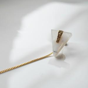 Agate Pierced Earring (Triangle)