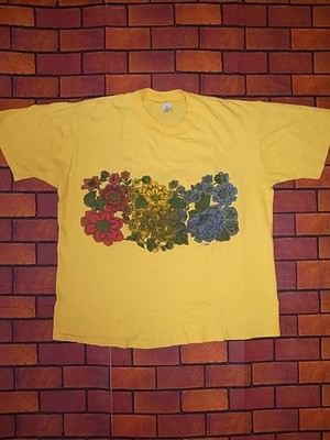 70'S HIBISCUS POCKET T-SHIRTS