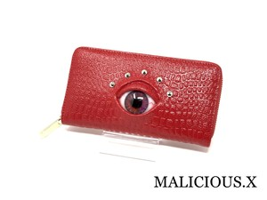 eye  wallet / dark magenta(crocodile)red