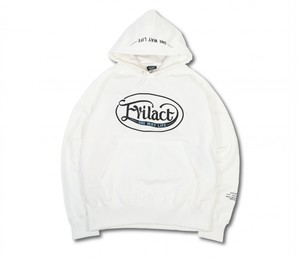 EVILACT(イーブルアクト) / Oval Logo Pullover Hooded Sweatshirt (white)