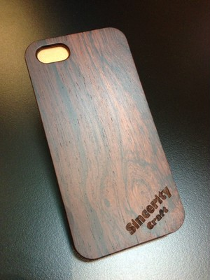 "iPhone5/5s wood case ""シタン"""