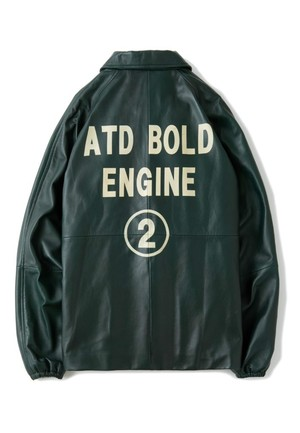 AT-DIRTY(アットダーティー)/ATD LEATHER COACH JACKET (GREEN)