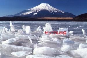 御神渡り富士(縁起の良い奇跡の開運写真 富士の麓の山中湖での珍しい御神渡り現象)