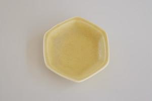 [豆皿] 六角 イエロー