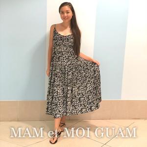 【Q HEART】Boho cami long dress / Flower
