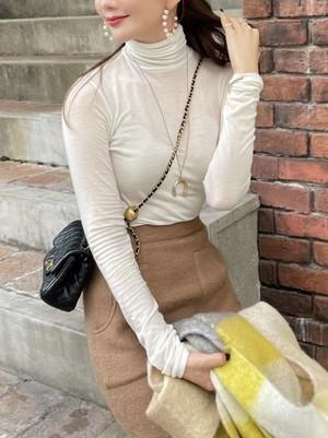 【予約】turtle neck pullover / off white (11月中旬発送予定)